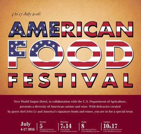 American food festival at New World Saigon